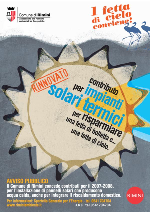 Manifesto Bando Solare Termico 2007-8