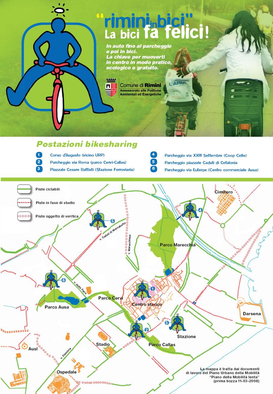 Mappa Bikesharing RiminBici