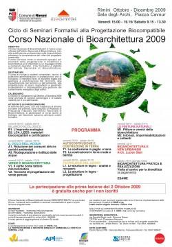 Corso Nazionale di Bioarchitettura 2009