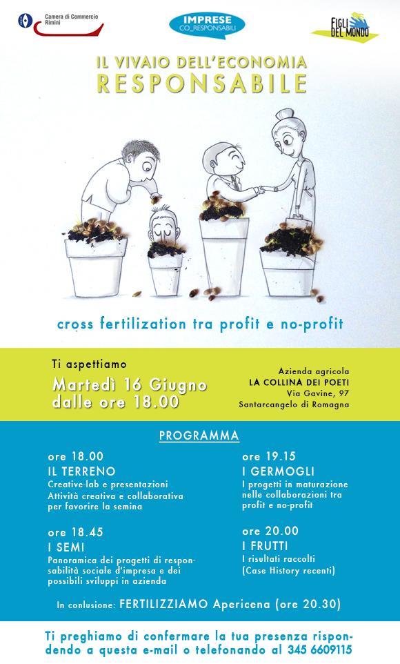 economia responsabile cross sharing fertilization profit no-profit