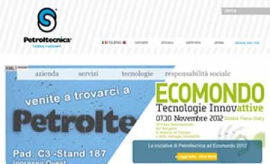 Realizzazione del sito Petroltecnica.it - Andrea Zanzini Portfolio