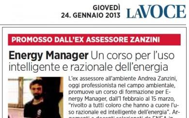 LaVoce Energy Manager Corso Andrea Zanzini