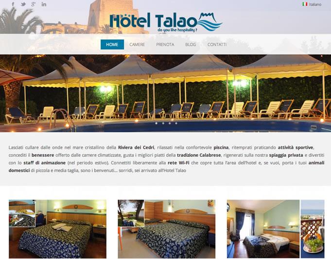 Hotel talao webdesign per hotel con prenotazione e for Design boutique hotel rimini