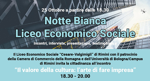 Notte Bianca del Liceo Economico Sociale