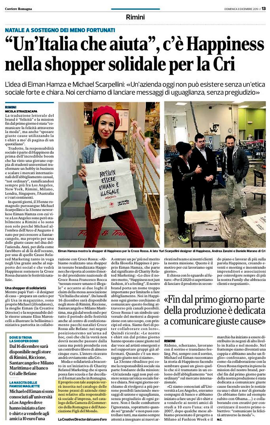 Happiness for Croce rossa charity related marketing